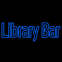 Double Stroke Library Bar Neon Skilt