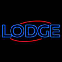 Double Stroke Lodge Neon Skilt