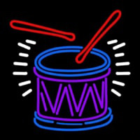 Drum And Stick Neon Skilt
