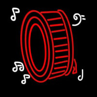 Drum Musical Note Logo Neon Skilt