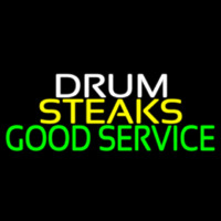 Drum Steaks Good Service Block 1 Neon Skilt