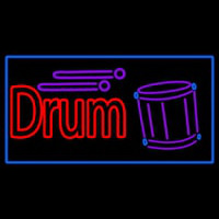 Drum With Musical  Neon Skilt