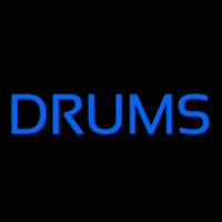 Drums Block 1 Neon Skilt