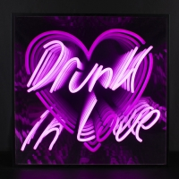 Drunk In Love 3D Infinity LED Neon Sign