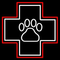 Emergency Icon Veterinary Neon Skilt
