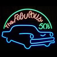 Fabulous 50S For Garage Man Cave Wall Art Neon Skilt