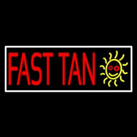 Fast Tan With White Border Neon Skilt
