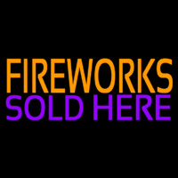 Fire Work Sold Here 2 Neon Skilt