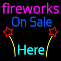 Fireworks On Sale Here Neon Skilt
