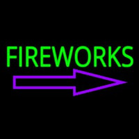 Fireworks With Arrow 1 Neon Skilt