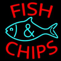 Fish Logo Fish And Chips Neon Skilt
