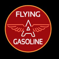 Flying a Gasoline Neon Skilt
