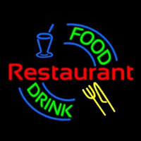 Food And Drink Restaurant Logo Neon Skilt