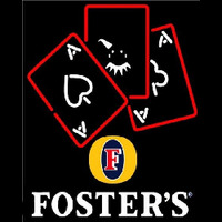 Fosters Ace And Poker Beer Sign Neon Skilt