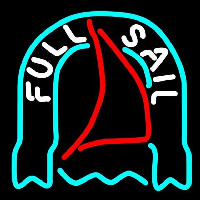 Fosters Full Sail Beer Sign Neon Skilt