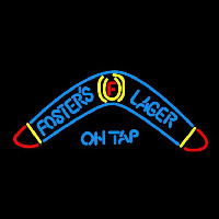 Fosters Lager Boomerang Beer Sign Neon Skilt