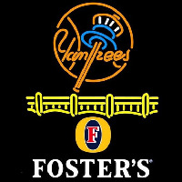 Fosters New York Yankees Beer Sign Neon Skilt
