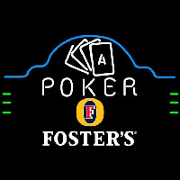 Fosters Poker Ace Cards Beer Sign Neon Skilt