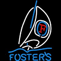 Fosters Sailboat Beer Sign Neon Skilt