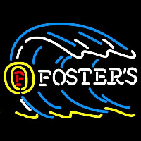 Fosters Tidal Wave Beer Sign Neon Skilt