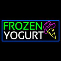 Frozen Yogurt With Logo Neon Skilt