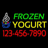 Frozen Yogurt With Phone Number Neon Skilt