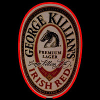 George Killians Irish Red Beer Sign Neon Skilt