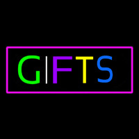 Gifts Rectangle Pink Neon Skilt