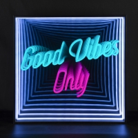 Good Vibes Only 3D Infinity LED Neon Sign