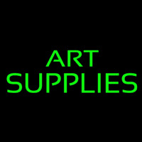 Green Art Supplies 1 Neon Skilt