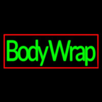 Green Body Wraps With Red Border Neon Skilt
