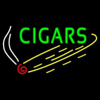 Green Cigars Neon Skilt