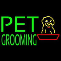 Green Pet Grooming Block 1 Neon Skilt