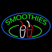 Green Smoothies With Glass Neon Skilt