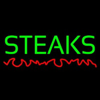 Green Steaks Neon Skilt