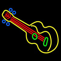 Guitar Strings  Neon Skilt