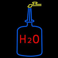H2o Drinking Water Neon Skilt