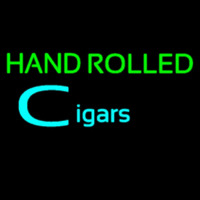 Hand Rolled Cigars Neon Skilt