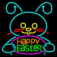 Happy Easter 2 Neon Skilt