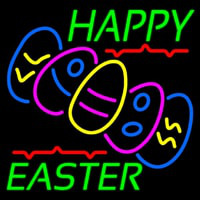 Happy Easter With Egg 1 Neon Skilt