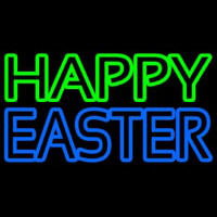Happy Easter With Egg 2 Neon Skilt
