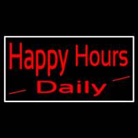 Happy Hours Daily Neon Skilt