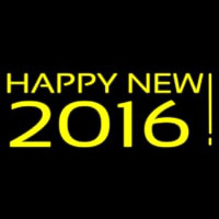 Happy New Year 2016 Neon Skilt