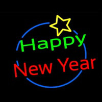 Happy New Year Logo Neon Skilt