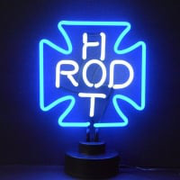 Hot Rod Cross Desktop Neon Skilt