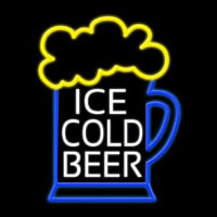 Ice Cold Beer Neon Skilt