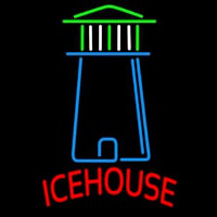Ice House Light House Art Beer Sign Neon Skilt
