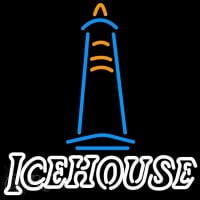 Ice House Light House Beer Sign Neon Skilt
