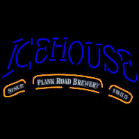 Icehouse Plank Road Brewery Blue Beer Sign Neon Skilt