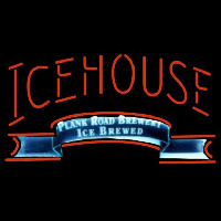 Icehouse Plank Road Brewery Red Beer Sign Neon Skilt